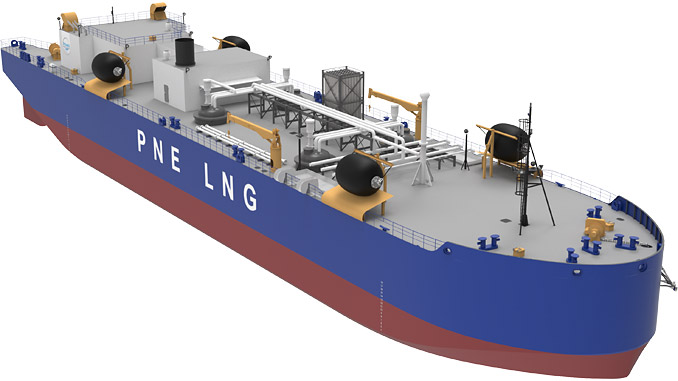 LNG Bunkering Barge currently under construction at Fincantieri Bay Shipbuilding