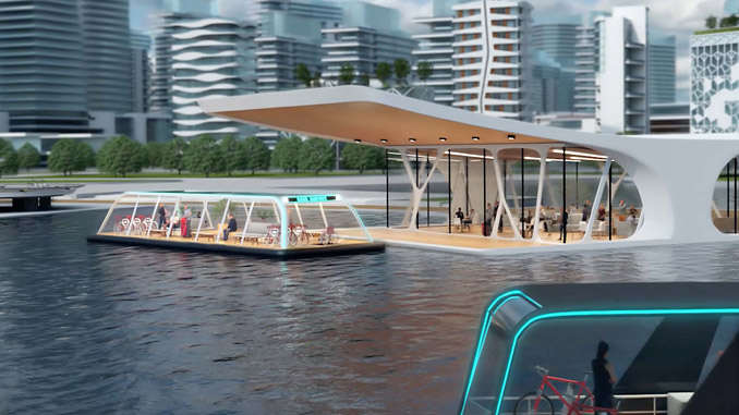 The Kansai Urban Water Mobility project (illustration: KEPCO/e5)