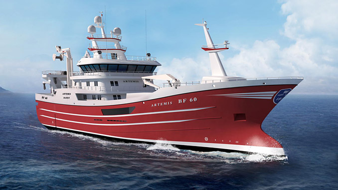 'Artemis' will be equipped with a selection of advanced SIMRAD sonar equipment