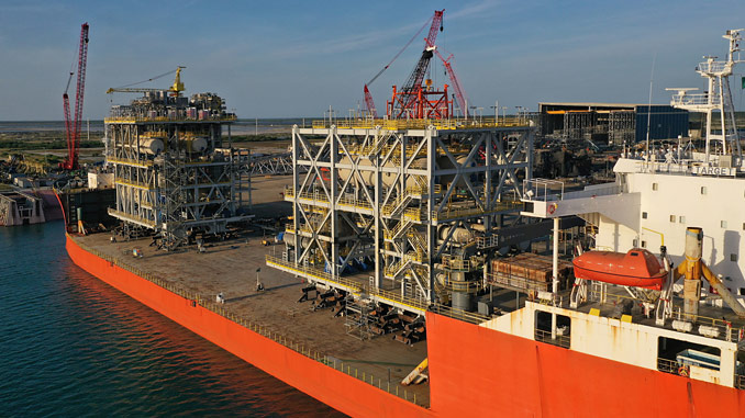 The second shipment of topside modules for a MODEC FPSO leaves McDermott's Altamira fabrication facility
