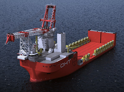 The custom-built offshore wind installation vessel 'Alfa Lift' is currently under construction in China