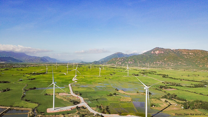 Dam Nai Wind, located in Ninh Thuan province, Vietnam's 'renewable energy capital'