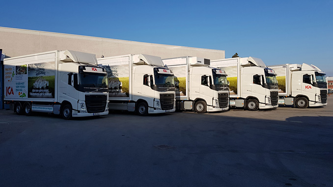 To bring about an immediate reduction in the carbon dioxide emissions from its heavy goods transport between cities, ICA uses Volvo trucks running on biogas