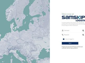 mySamskipLogistics – sign in screen