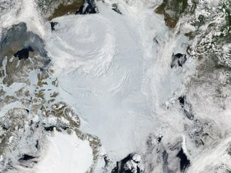 Polar states can take immediate action to avoid another decade of HFO use in the Arctic and mitigate black carbon risks from VLSFO (photo: Jeff Schmaltz, NASA Earth Observatory/Wikimedia)