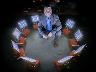 Bright future …. Scot Borland, managing director of Aberdeen-based BME, has high hopes for his industrial lighting products
