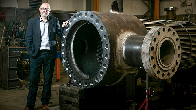 Andy Scott at Glacier Energy's Heat Transfer Facility in Aberdeen