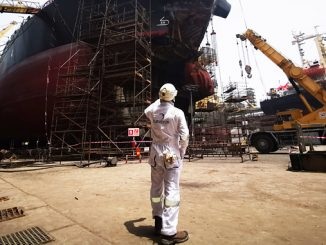 Surveyor at shipyard (photo: Inchcape Shipping Services)