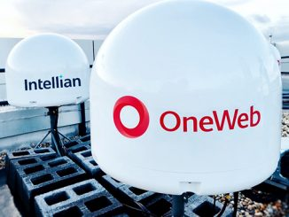 Intellian's OneWeb user terminals installed at OneWeb HQ, London