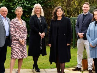 From left, Andrew Mackay, chairman of NRG Group; his wife and co-owner Jean Mackay; Angie McGregor and Jo McGregor of McGregor Consultants; Daniel Mackay, managing director of NRG Well Management; and Erica McPherson, NRG Group commercial director