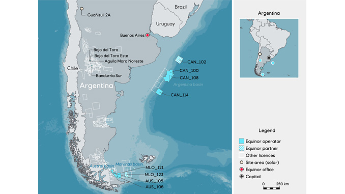 Equinor's operations in Argentina