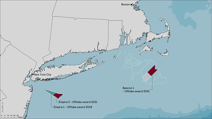Equinor's offshore wind operations in the US