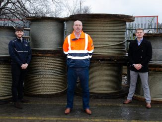 From left, Peter McDougall, Sales Manager; Bertwin Zonneveld, UK Managing Director; and Kyle McAskill, Sales Manager