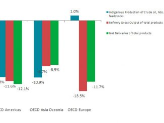 Growth rate per flow and OECD region in October 2020 (y-o-y) (source: IEA)