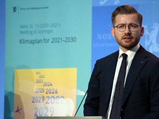 """""""This climate action plan will give new momentum to Norwegian climate policy,"""" says Sveinung Rotevatn, Minister of Climate and Environment (photo: Martin Lerberg Fossum/KLD)"""