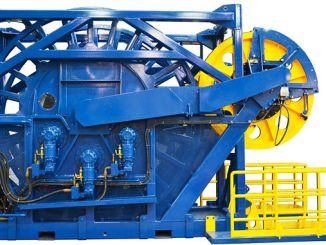 The largest reeler Logan has manufactured of this type features the smallest footprint in the industry