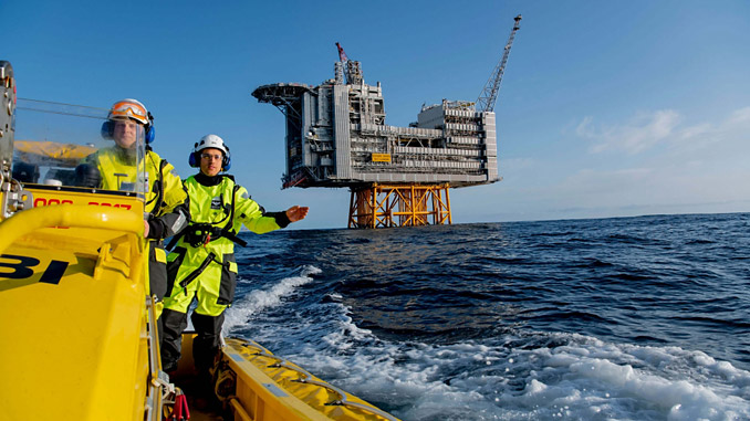 Edvard Grieg platform in the North Sea