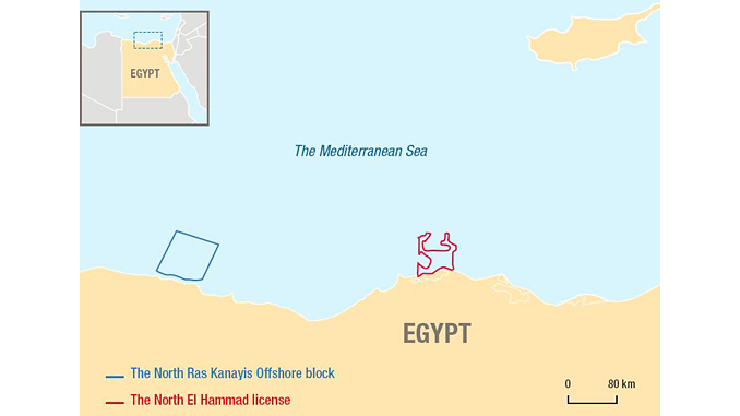 Offshore Egypt – North Ras Kanayis Offshore block located in the Herodotus Basin