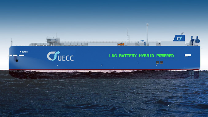 UECC battery hybrid LNG ro-ro scheduled for delivery late 2021