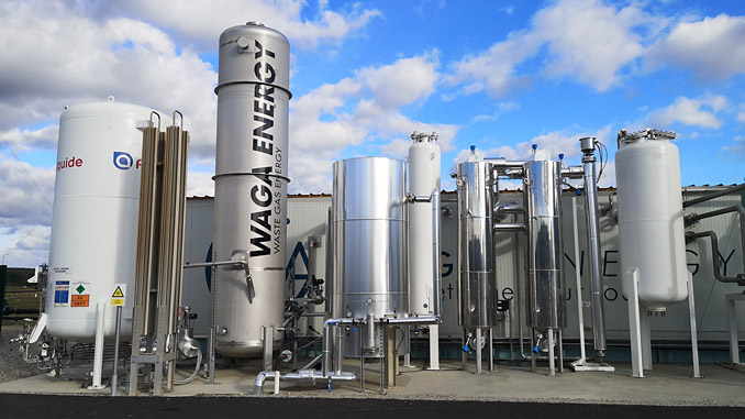 WAGABOX® purification technology, developed by Waga Energy to recover landfill gas in the form of biomethane, a renewable substitute for natural gas