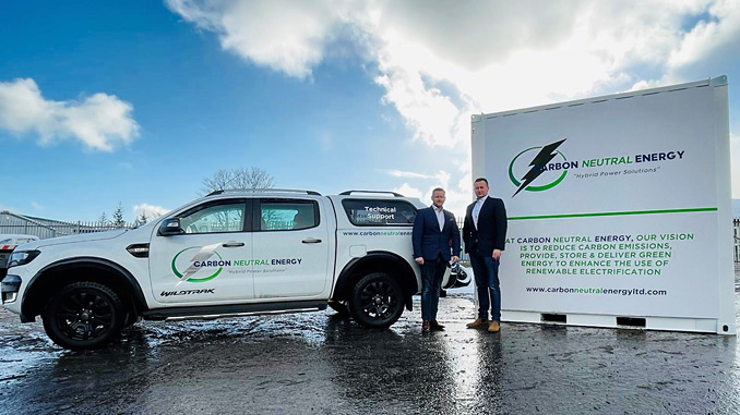 CNE Sales Director, Philip Patterson, at right, and Chief Operating Officer, Harry Patterson