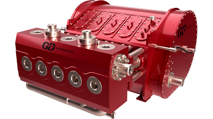 The GD 2500Q Heavy Duty Frame (HDF) quintuplex pump, designed to extend pump service life through an optimised power end frame design