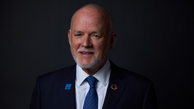 Peter Thomson, the United Nations Secretary General's Special Envoy for the Ocean