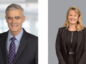 Mike Train, Senior Vice President and Chief Sustainability Officer, left, and Lisa Flavin, Senior Vice President and Chief Compliance Officer