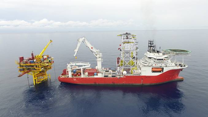 The DP3 'M/V Pride' offshore construction vessel with integrated smart tower system