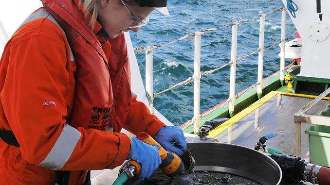 Seabed sampling, offshore Angola