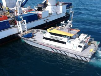 MV Viking's cruising speed of 20 knots and able to operate 60 miles from shore