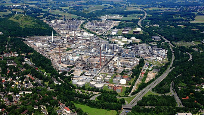 Gelsenkirchen chemical complex in Germany