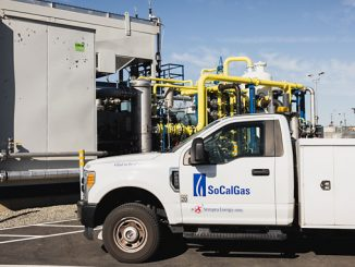 Rialto Bioenergy Facility: SoCalGas truck and methane processing system