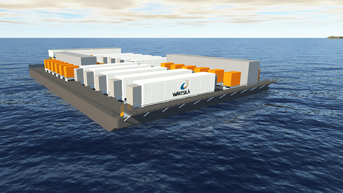 The first-ever deployment of a floating energy storage solution in South East Asia involves 10 Wärtsilä GridSolv Max systems, supported by advanced GEMS software aboard a barge