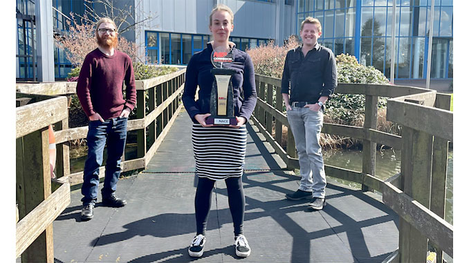 From left, Dan Irving, Executive Product Development Manager; Dr Claire Thring, Application Specialist for the Novosound Belenus; and Dr Dave Hughes, Novosound Founder and CEO