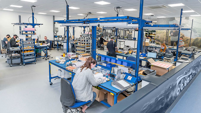Ocean Signal's production team prepare the company's leading safety devices for worldwide distribution at the expanded factory facility in Margate, UK