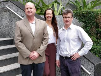 From left, KATO Director Joe Graham; Naomi Kerp, Principal Environmental Consultant at Xodus; and Brett MacRae, KATO Project Manager