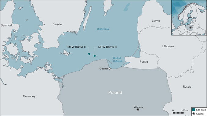 Equinor and Polenergia's Bałtyk II and Bałtyk III offshore wind projects