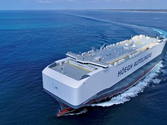 Kongsberg Maritime and MAN Energy Solutions are to deliver a digital package combining the Vessel Insight and PrimeServ Assist applications to four vessels in Höegh Autoliners' Horizon class fleet (photo: Owen Foley)