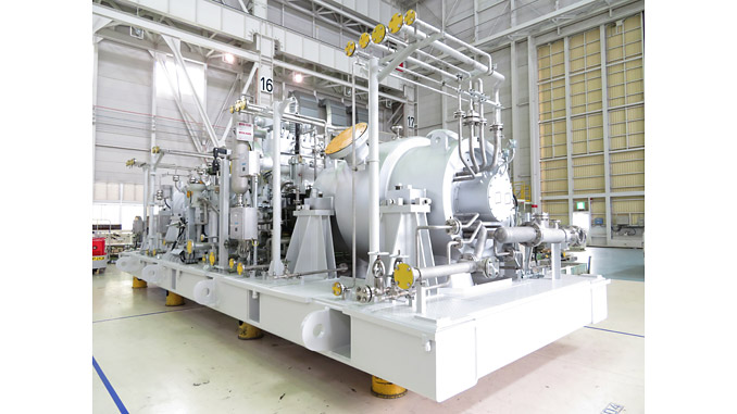 Completed MHI compressor ammonia syngas train at a fertilizer facility