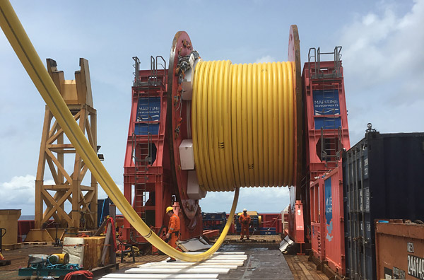 MDL third-generation Reel Drive System deployed offshore Ghana (photo: Maritime Developments)
