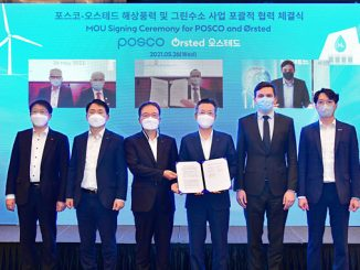 From the virtual ceremony where POSCO and Ørsted signed the memorandum of understanding