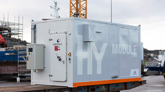 The Wärtsilä HY containerised hybrid battery power and energy storage system will support Maersk's efforts to reduce the carbon intensity of its fleet