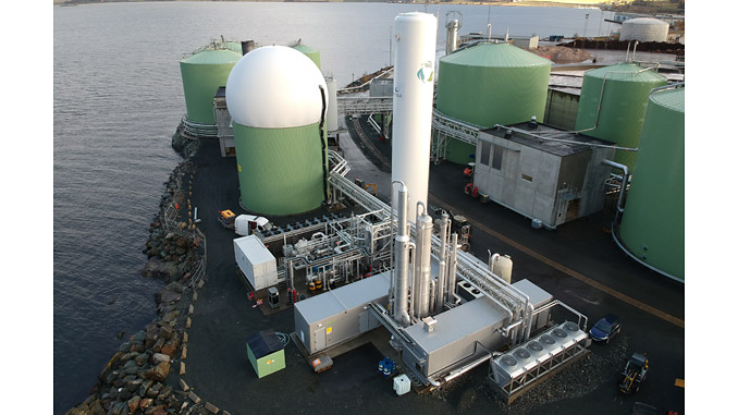The biogas liquefaction plant will extend the existing bioLNG production plant at Fiborgtangen, Skogn, Norway