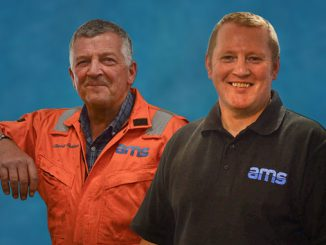 AMS Global safety technicians Charlie Duncan and Kenny MacDonald