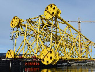 The process platform substructure for phase 2 sails from Verdal