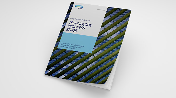 'Technology Progress Report', a new supplement to DNV's annual Energy Transition Outlook, highlights key technologies in three major energy sub-sectors: Production, transportation and use