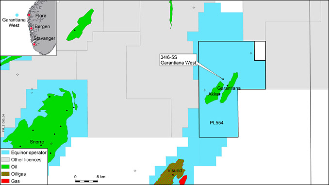 Exploration wells 34/6-5 S and 34/6-5 ST2 on the Garantiana West prospect