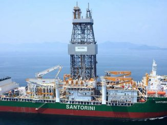 The 'Santorini' is a Dual Activity Samsung 96K design, dynamicallypositioned drillship capable of operating in moderate environments