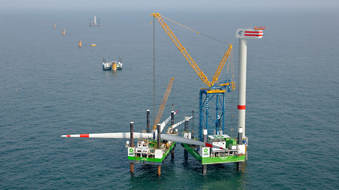 During its first offshore wind turbine project in 2008, Sarens installed six 5-MW turbines at the Thornton Bank project in Ostend, Belgium using a 750-tonne crane (Liebherr LR 1750) on top of its SMLT – the Sarens Multi Lifting Tower
